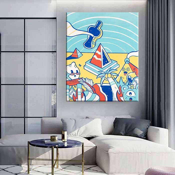 תמונה צבעונית לסלון